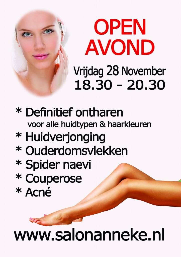 poster open avond salon anneke